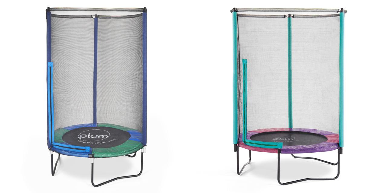 Dětská trampolina s ochrannou sítí 140x140x186cm