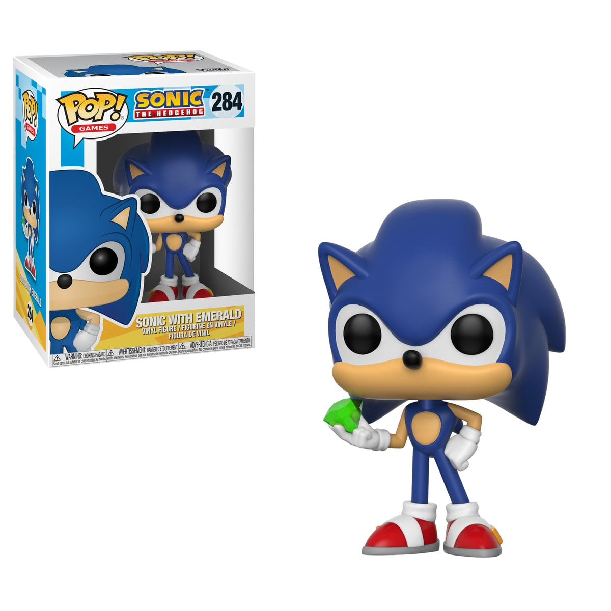 Funko POP Games: Sonic - Sonic w/ Emerald