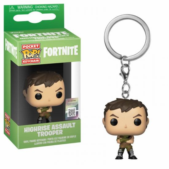 Funko POP Keychain: Fortnite S1a - Highrise Assault Trooper
