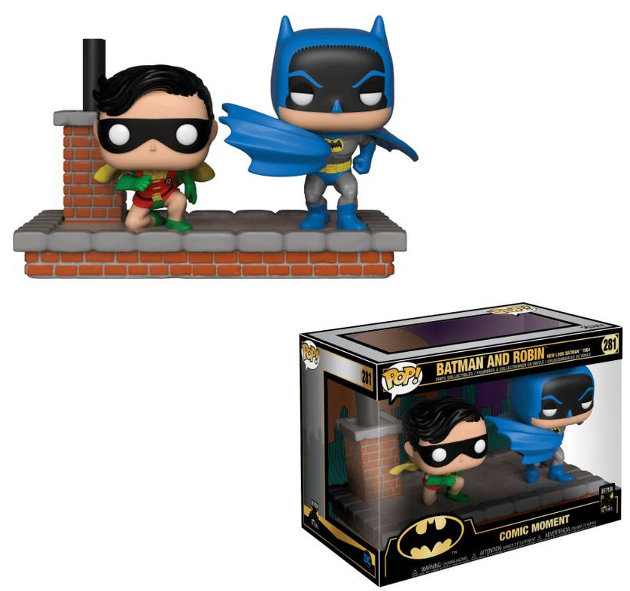 Funko POP DC Moment: Batman 80th - Look Batman and Ro