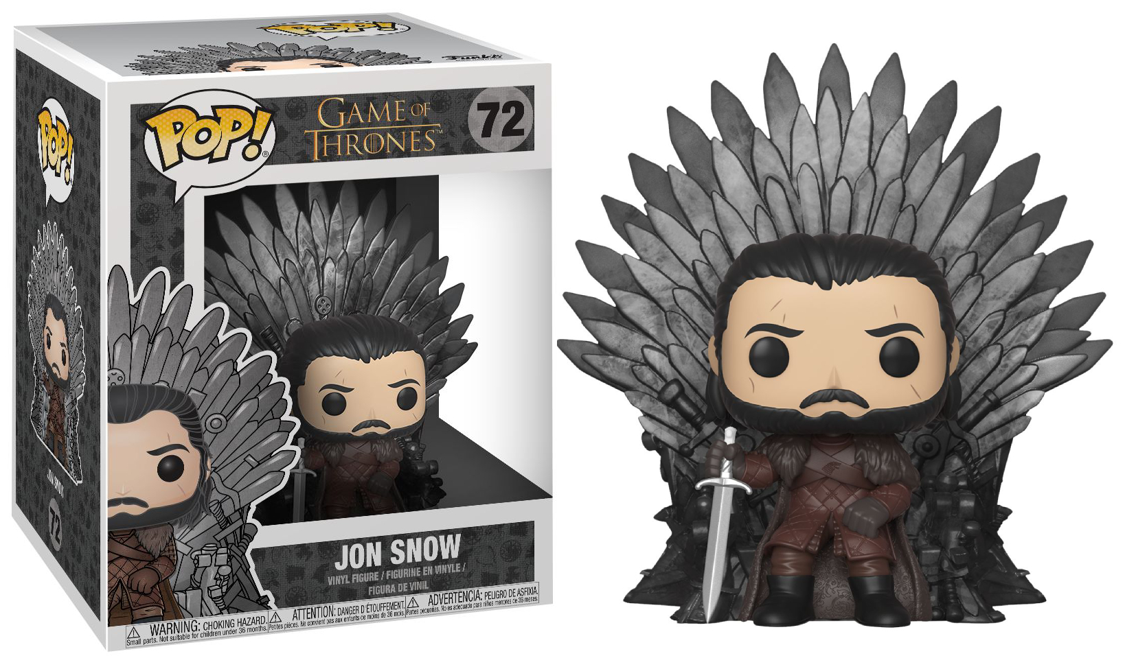 Funko POP Deluxe: Game of Thrones S10 - Jon Snow Sitting on Iron Throne