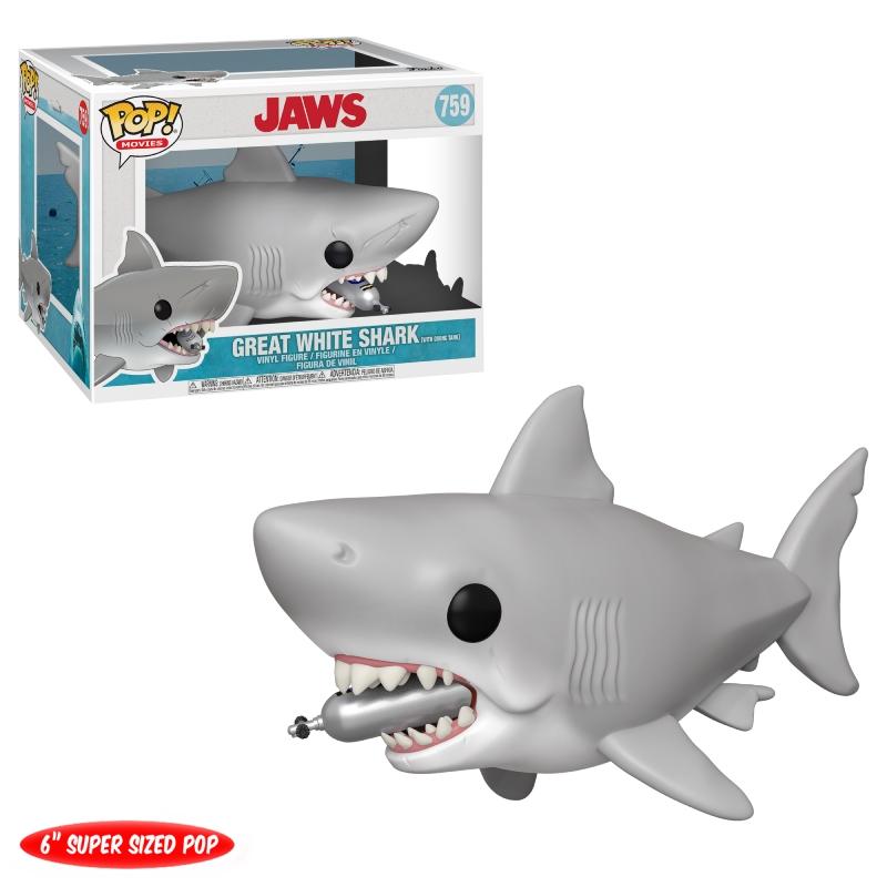 "Funko 6"" POP Movies: Jaws - Jaws w/Diving tank"