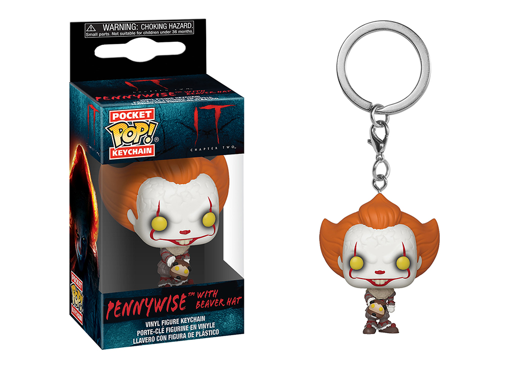 Funko Pop Keychain: IT Chapter 2 - Pennywise w/ Beaver Hat