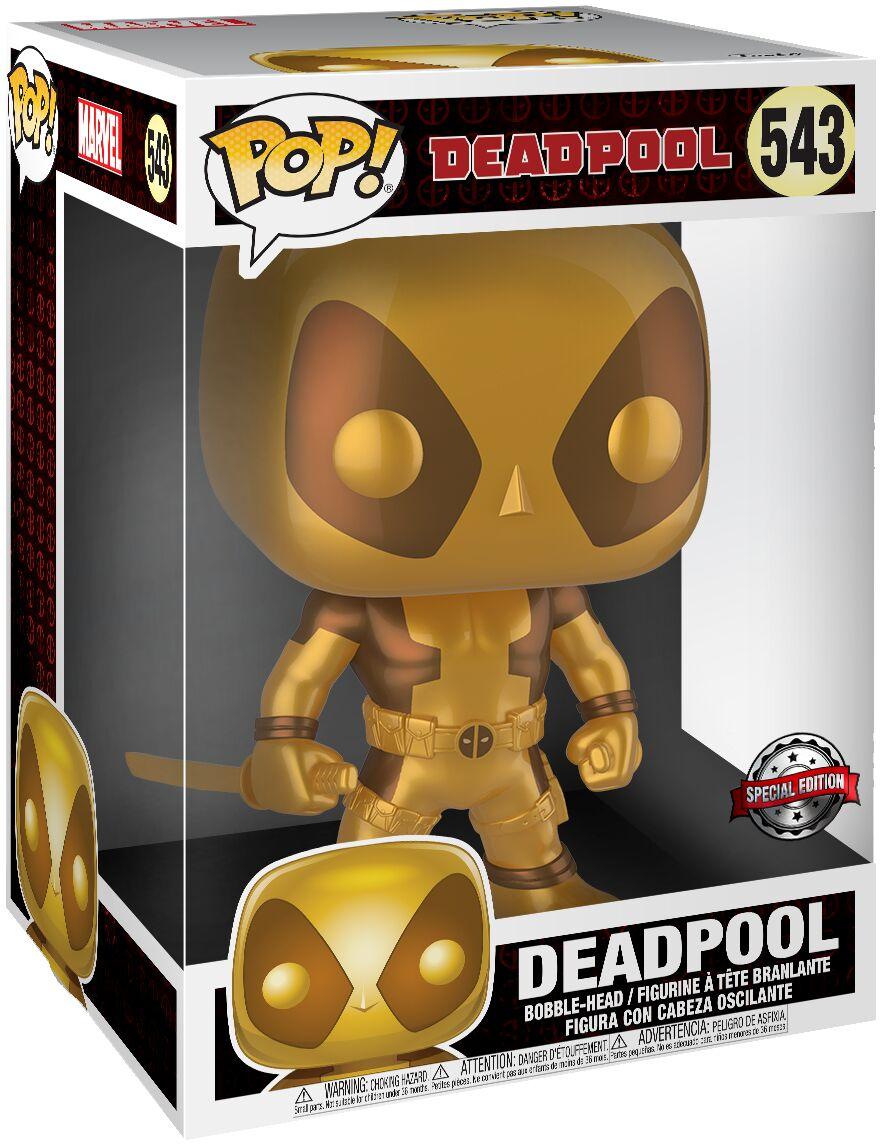 "Funko POP Marvel: 10"" Deadpool - Thumbs Up Gold Deadpool"