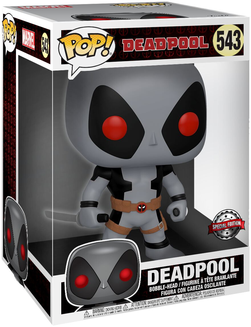 "Funko POP Marvel: 10"" Deadpool - Two Sword Gray Deadpool"