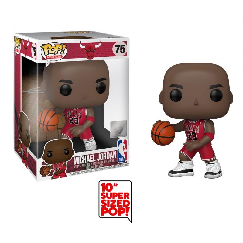 "Funko POP NBA: Bulls - 10"" Michael Jordan (Red Jersey)"