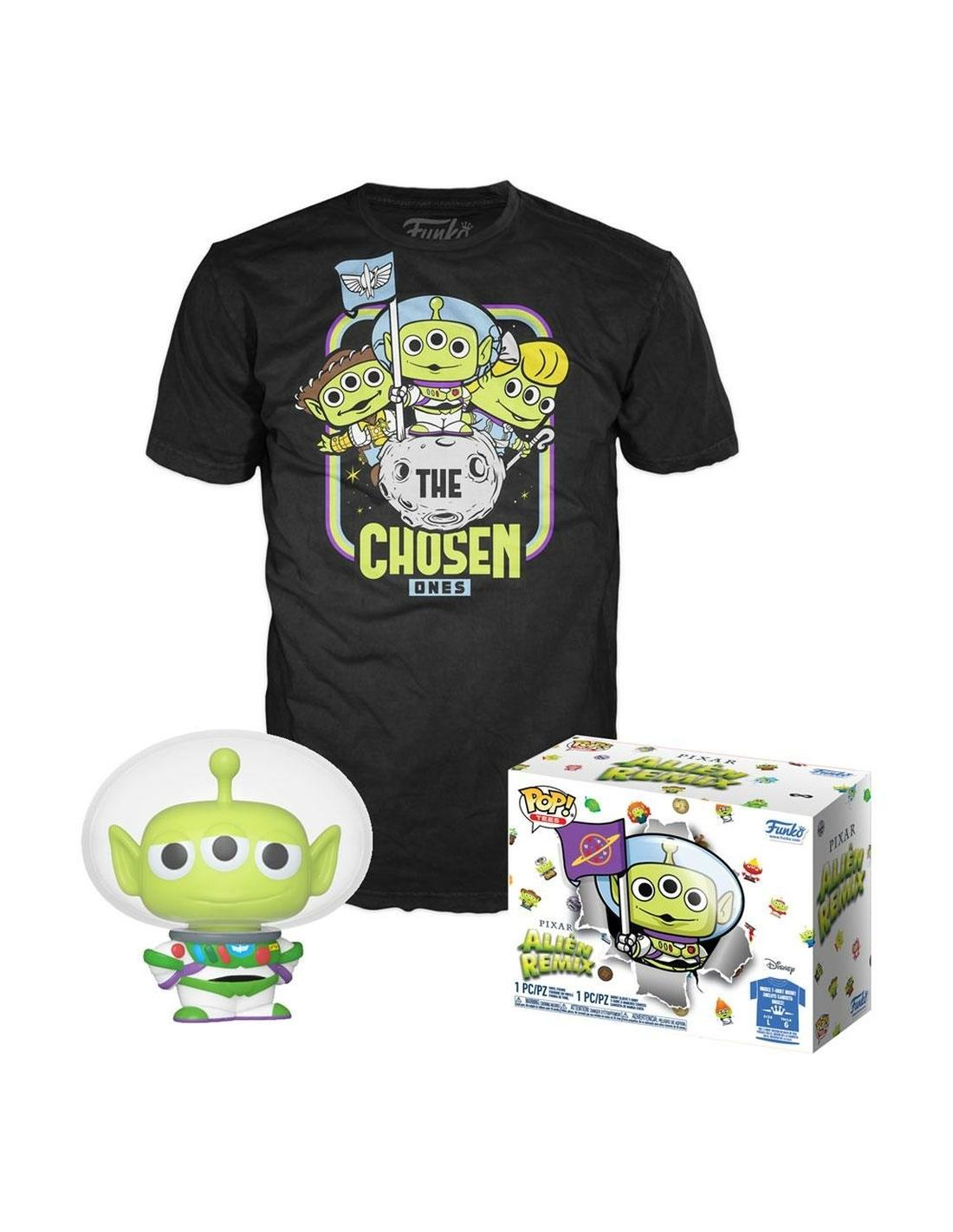 Funko POP & Tee: Pixar- Alien As Buzz(GW)- M