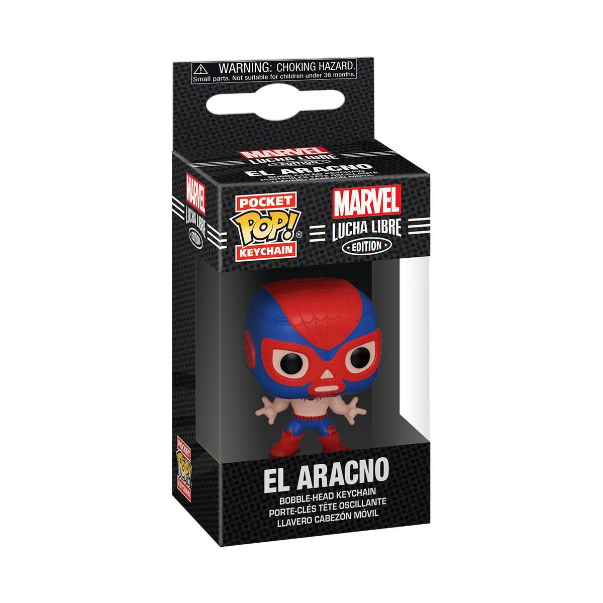 Funko POP Keychain: Marvel Luchadores- Spider-Man