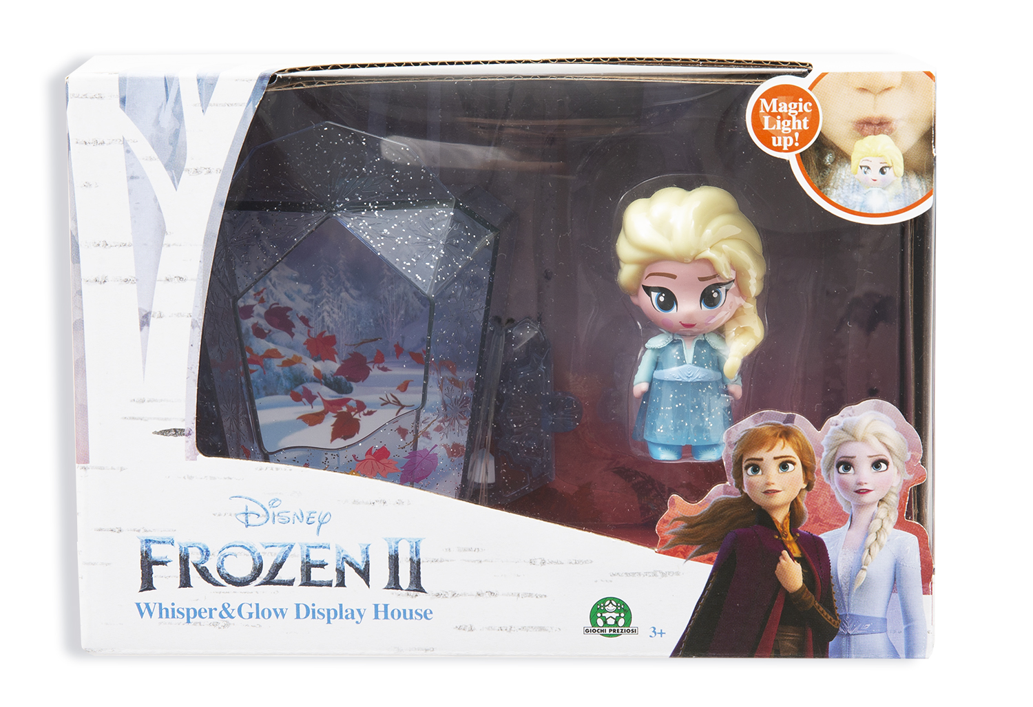 Frozen 2: display set svítící mini panenka - Elsa