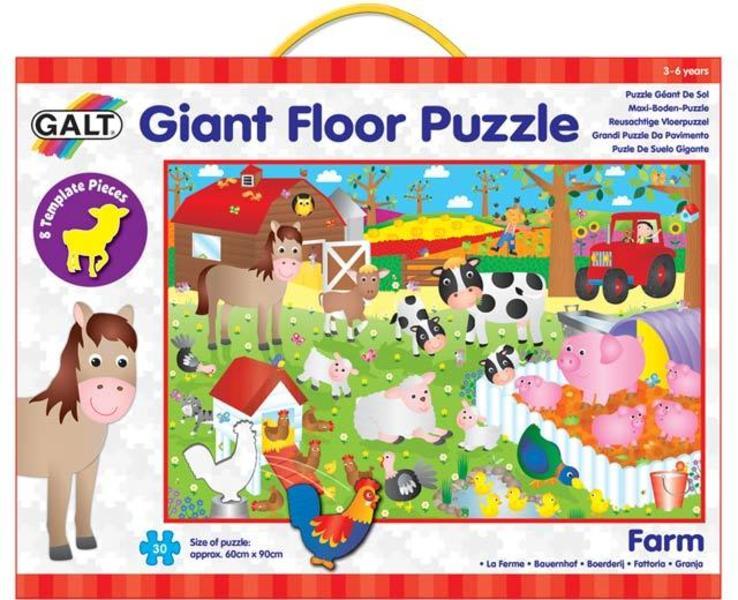 Velké podlahové puzzle – na farmě