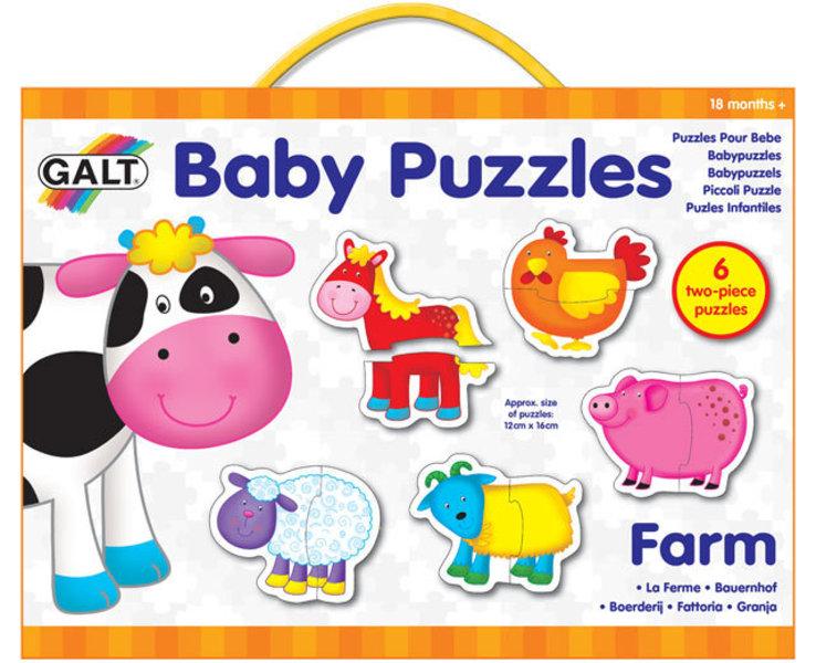 Puzzle pro nejmenší – zvířátka na farmě 2.