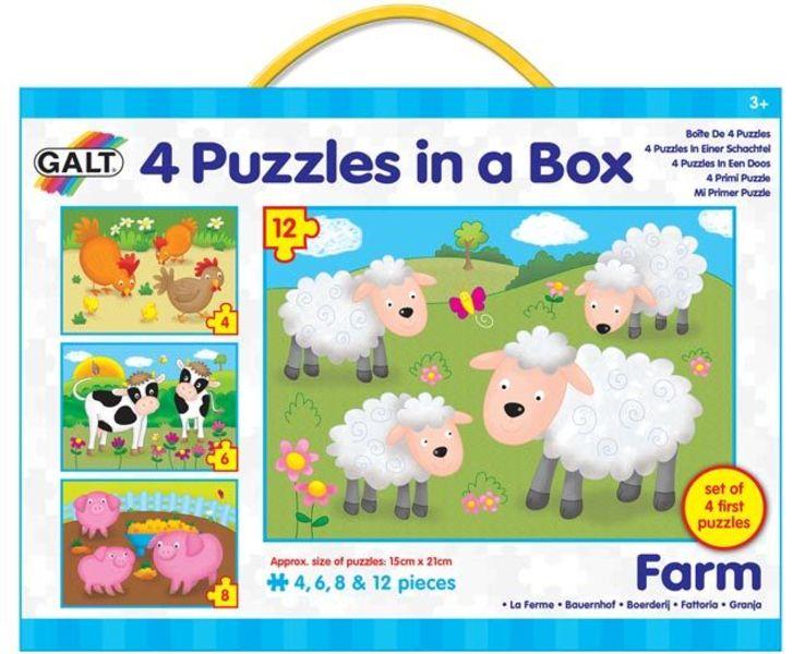4 Puzzle v krabici - Farma
