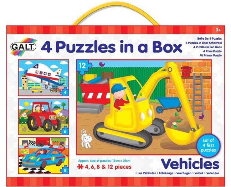 4 Puzzle v krabici - Dopravní prostředky