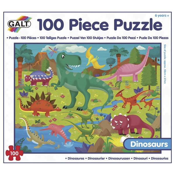 100 Puzzle v krabici - Dinosauři
