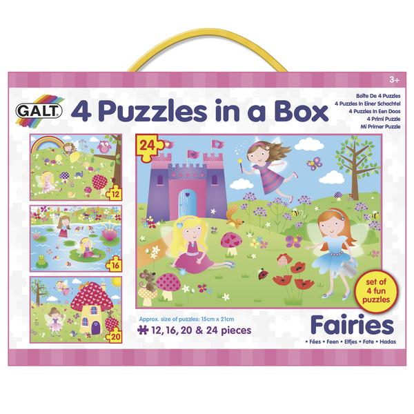 4 Puzzle v krabici - Víly