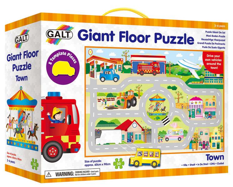 Velké podlahové puzzle - město