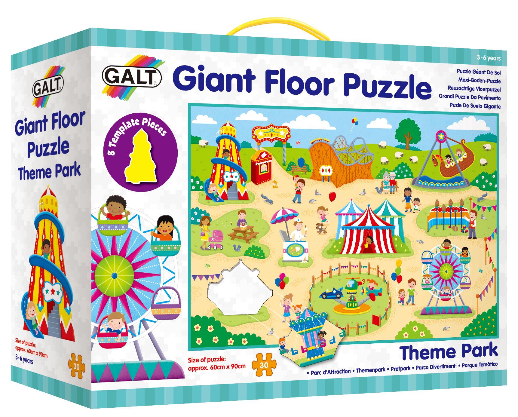 Velké podlahové puzzle - Zábavní park