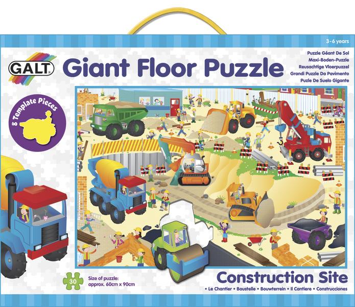 Velké podlahové puzzle – na staveništi