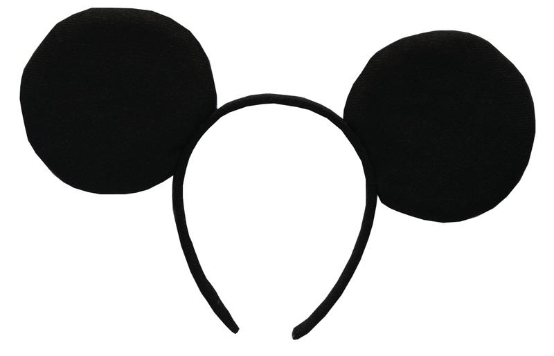 Mickey Mouse: čelenka -  plyšové uši