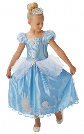 Disney: Popelka s třpytivými  ozdobami a korunkou - vel. S