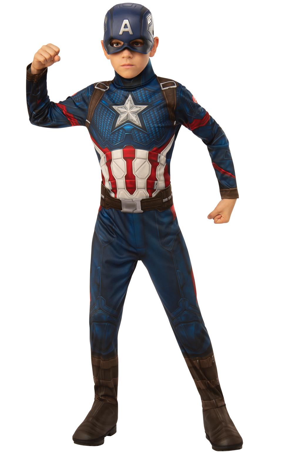 Avengers Endgame: Captain America - Classic kostým s maskou vel. S