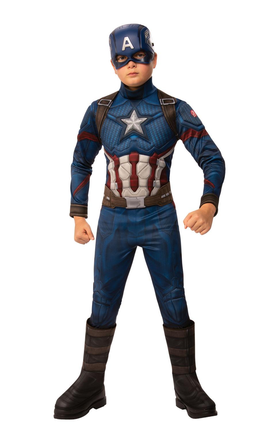 Avengers Endgame: Captain America - DELUXE kostým s maskou vel. S