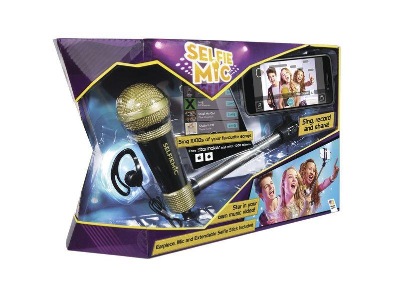 Selfie mikrofon černý